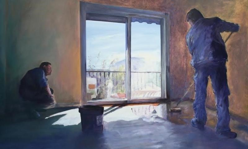 El artista Gustavo Hernández expone en Plasencia una muestra de pintura titulada 'Maestros del parquet'