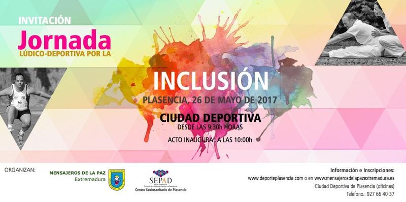 Organizan una jornada Lúdico-Deportiva por la Inclusión el próximo 26 de mayo