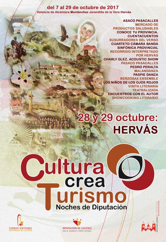 El programa Cultura Crea Turismo llegará a Hervás los días 28 y 29 de octubre