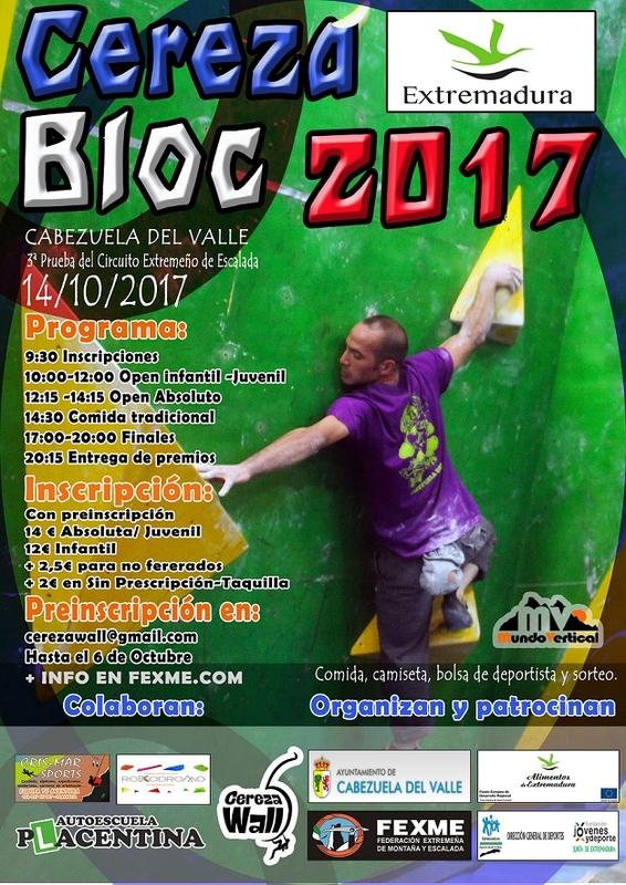 Mañana Cabezuela del Valle celebra la III prueba del circuito extremeño de escalada ya famosa entre los escaladores extremeños
