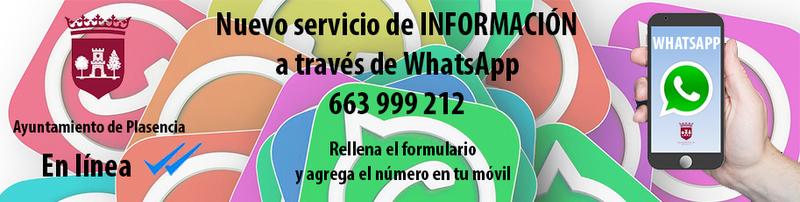 El ayuntamiento de Plasencia está en Whatsapp