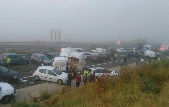 Ascienden a 15 los heridos en el accidente de la EX-A1, uno de ellos en estado crítico
