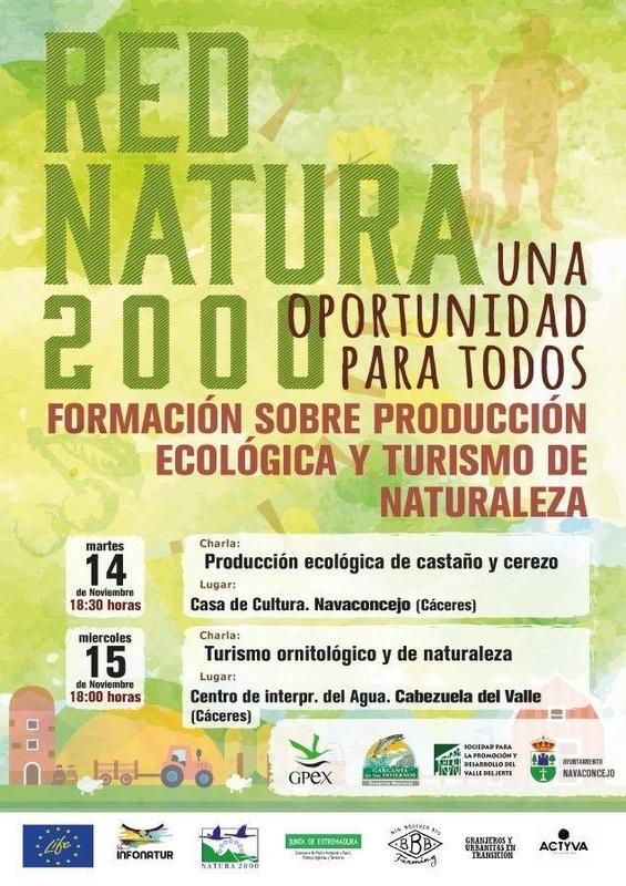 Red Natura 2000 ofrece formación sobre Producción Ecológica y Turismo en la Naturaleza