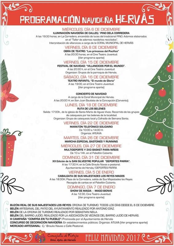 El Ayuntamiento de Hervás presenta su programa de actividades navideñas