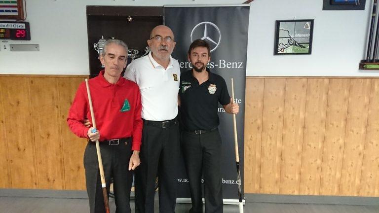 Un jugador del Club Billar Plasencia campeón de Extremadura de Billar a Tres Bandas