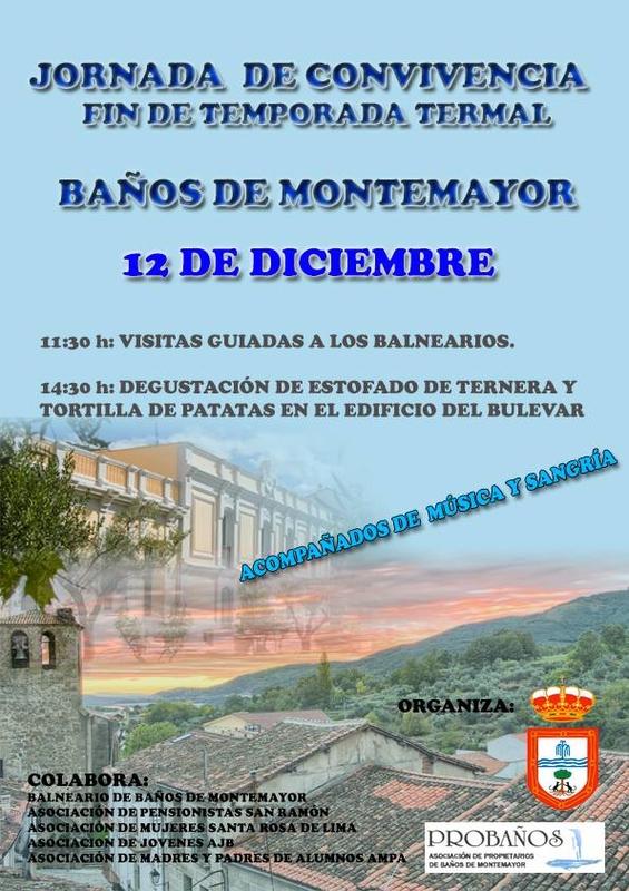 El Ayuntamiento de Baños de Montemayor celebra el fin de la temporada termal invitando a los vecinos a los balnearios
