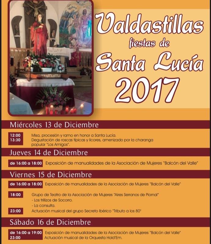 Mañana dan comienzo las fiestas en honor a Santa Lucía en Valdastillas