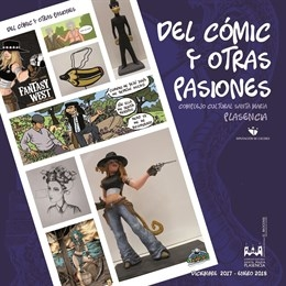 La exposición 'Del cómic y otras pasiones' muestra en Plasencia la comunicación entre lenguajes artísticos