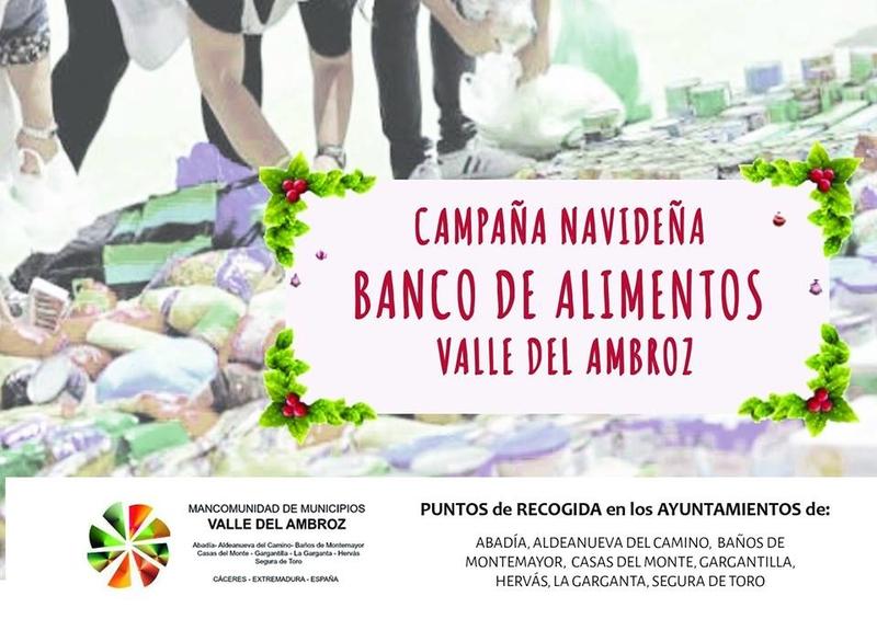 Los municipios del Ambroz recogen alimentos no perecederos para el Banco de Alimentos