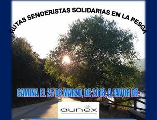 El Ayuntamiento de La Pesga organiza una marcha senderista solidaria a favor de Aunex