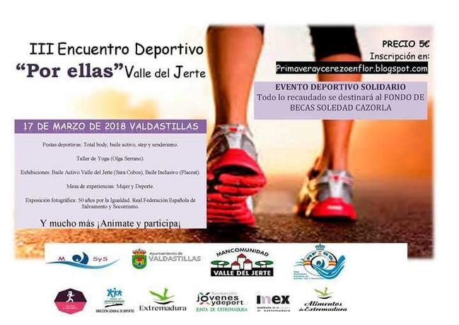 Valdastillas será la sede del III encuentro deportivo por ellas Valle del Jerte