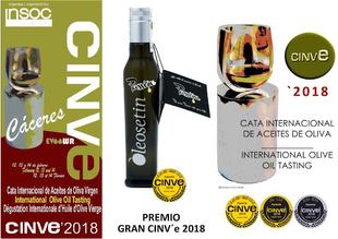 Un aceite de oliva hecho en Marchagaz recibe el máximo galardón de los Premios CINVE