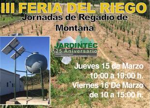 Mañana comienza la 3ª Feria del Riego en el Valle del Jerte