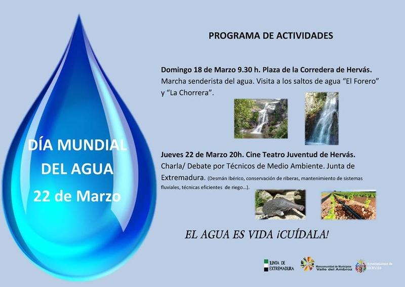 El Ayuntamiento de Hervás organiza dos actividades con motivo del día Mundial del Agua
