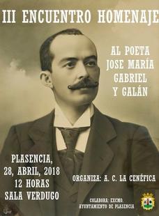 La Asociación Cultural La Cinéfica da su III homenaje al poeta Gabriel y Galán en Plasencia