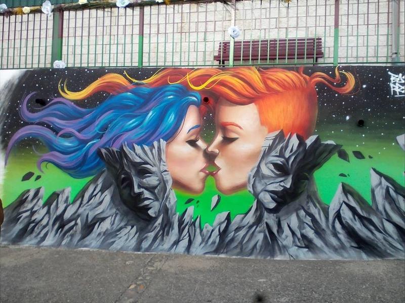 """Cabrero ya luce el grafiti ganador del concurso """"de igual calibre"""""""