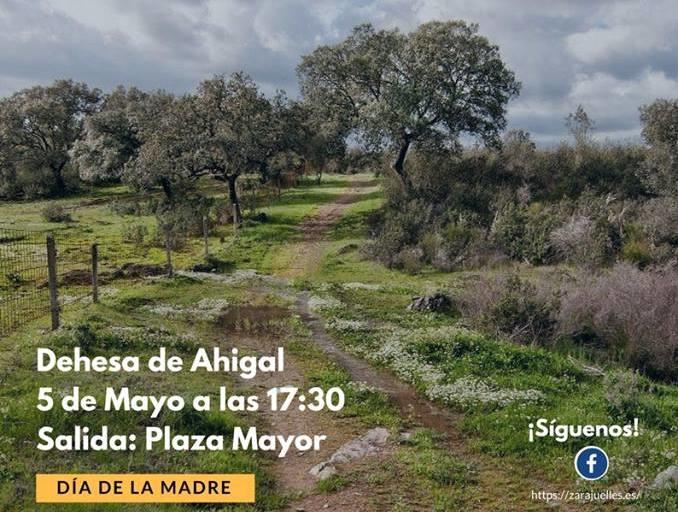 El Ayuntamiento de Ahigal y la Asociación Zarajuelle organizan una ruta senderista por el Día de la Madre