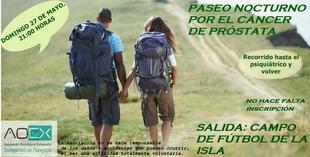 La Aoex Plasencia organiza el próximo 27 de mayo una marcha nocturna contra el cáncer de próstata