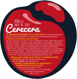 La IX Feria de la Cereza tendrá lugar el 3 de junio en Tornavacas