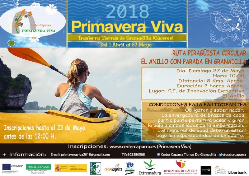 Mañana finaliza el plazo de inscripción de la Ruta Piragüista circular de El Anillo-Granadilla que se celebrará el 27 de mayo