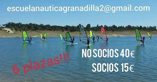 La escuela naútica de Zarza de Granadilla impartirá un curso de windsurf en el embalse de Gabriel y Galán