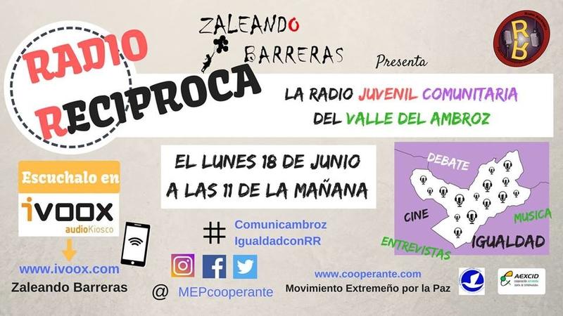 """El proyecto """"Zaleando Barreras 3"""" estrena programa de radio escolar"""