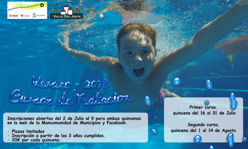 Abierto el plazo de inscripción a los cursos de natación en el Valle del Jerte