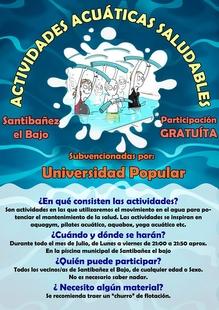 El Ayuntamiento de Santibáñez el Bajo ofrece aquagym gratis a sus vecinos