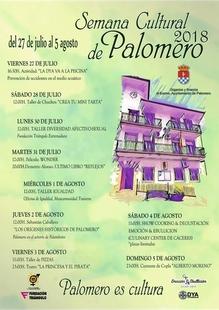 El Ayuntamiento de Palomero presenta el cartel de la Semana Cultural 2018