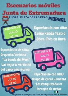 Los escenarios móviles de la Junta de Extremadura llegan a Piornal con varios espectáculos