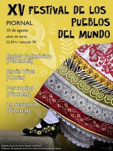Piornal celebra el XV Festival de los Pueblos del Mundo