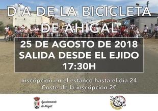 Ahigal celebrará este sábado el Día de la Bicicleta