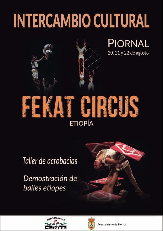 El grupo etíope de artistas circenses 'Fekat Circus' actuará en Piornal