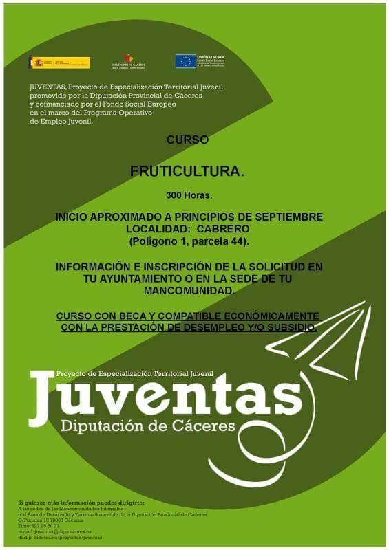 La Mancomunidad Valle del Jerte impartirá un curso sobre fruticultura