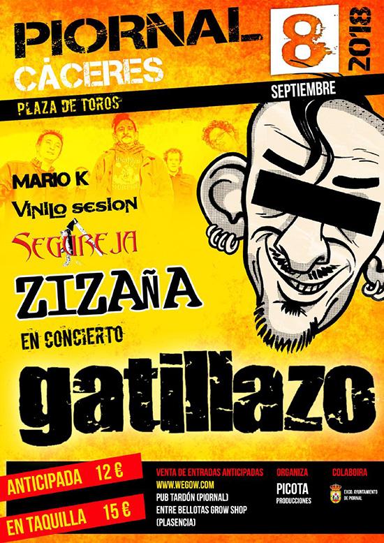 El grupo de punk 'Gatillazo' ofrece este sábado un concierto en Piornal