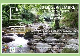 Una nueva campaña de limpieza del río en Hervás tendrá lugar este domingo día 30 de septiembre