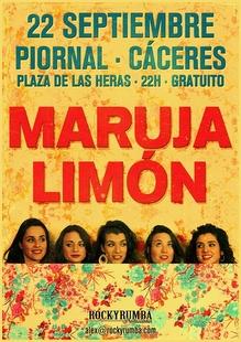 Actuación de Maruja Limón en el Festcamp de Piornal