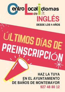 Últimos días para inscribirse a las clases de inglés del Centro Local de Idiomas de Baños de Montemayor