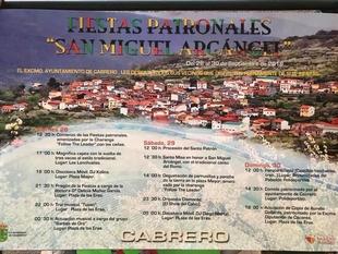 Fiestas en honor a San Miguel Arcángel en Cabrero