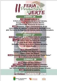 Los productores del Valle del Jerte organizan su II Feria entre los días 26 y  28 en Cabrero