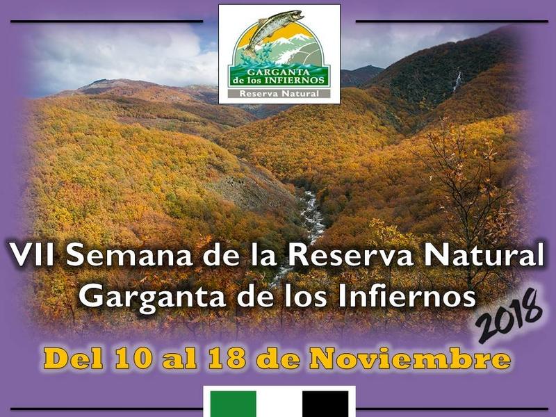 El día 10 de noviembre dará comienzo la VII Semana de la Reserva Natural Garganta de los Infiernos