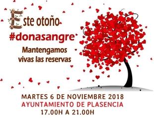 La Hermandad de Donantes de Sangre estará esta tarde en el Ayuntamiento de Plasencia