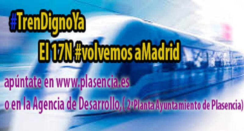 El Ayuntamiento de Plasencia pondrá autobuses para asistir a las manifestaciones por el Tren Digno