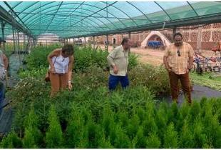 La diputada de Agricultura y Ganadería visita las obras del Refugio provincial y Vivero en la finca Haza de la Concepción