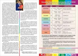 Ampliado el plazo de inscripción para las Escuelas Deportivas 2019-2020