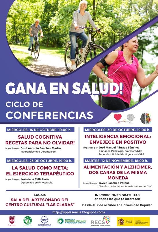 La Concejalía de Salud Pública organiza un Ciclo de Conferencias en la Sala del Artesonado