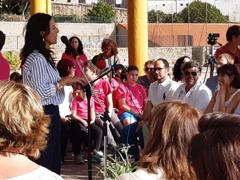 Esther Gutiérrez asiste a la celebración de los 50 años del CEIP Alfonso VIII, de Plasencia