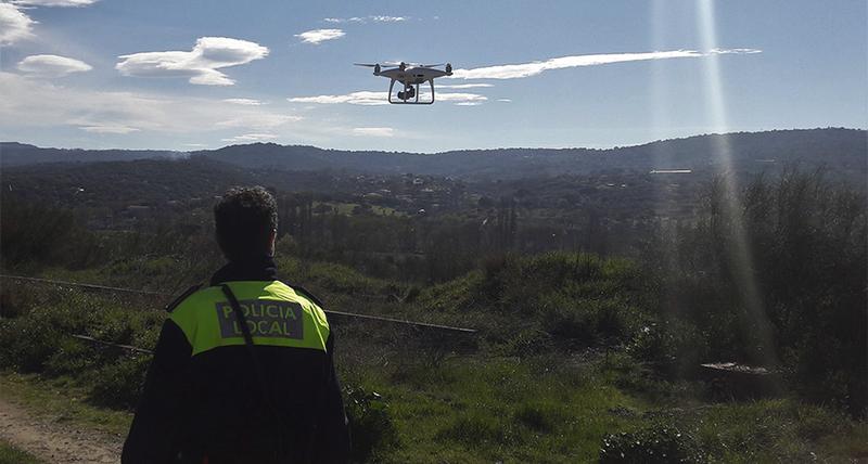 La policía local utilizará el dron para intensificar la vigilancia en Valcorchero durante el puente