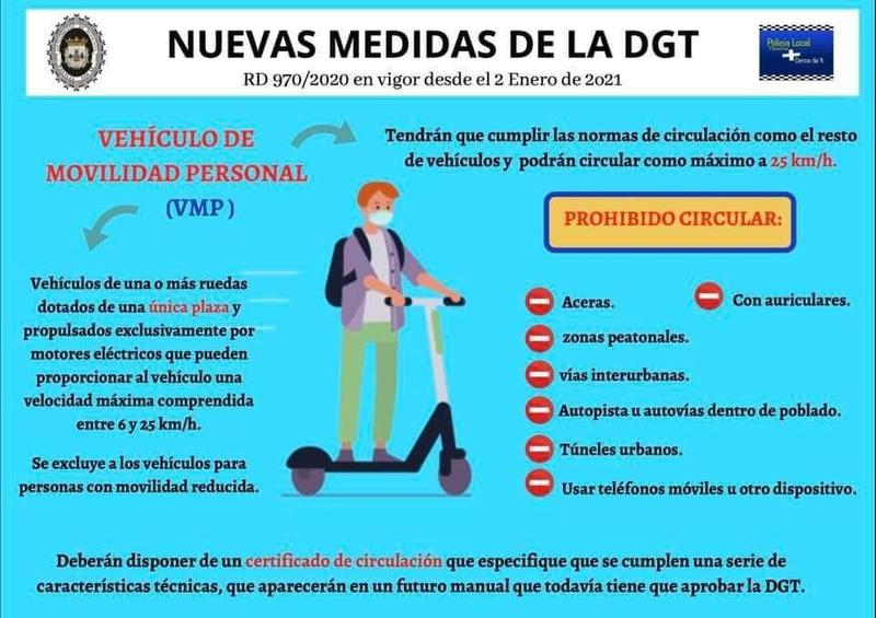 Entra en vigor nuevas normas para la circulación en los vehículos de movilidad personal