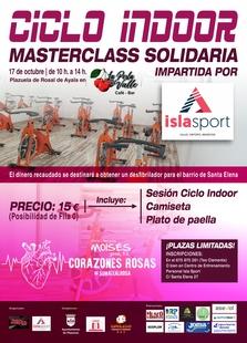 Una Masterclass de Ciclo INDOOR en la Plazuela de Ayala para comprar un desfibrilador para el barrio de Santa Elena